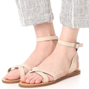 NWT Madewell Leather Ankle Strap Sandals